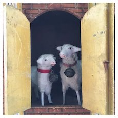Two Cute German Sheep for Your Doll .