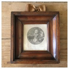 Charming Little French 19th Engraving: the Roi de Rome, Son of Napoleon 1st .