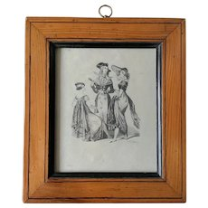From Charles Vernier 19th Century French Fashion Engraving'' Incroyable and Merveilleuses''