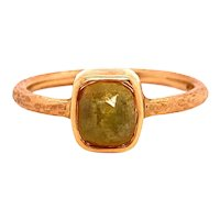 14k Raw Diamond Crystal Ring 1.04 Carat