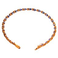 Exquisite Color 5.40tcw Tanzanite 14kt Yellow Gold Tennis Bracelet