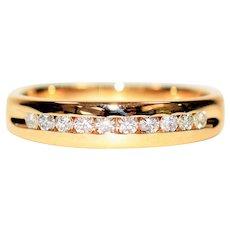 Romantic Sparkle .30tcw Diamond 14kt Yellow Gold Mens Wedding Band Ring