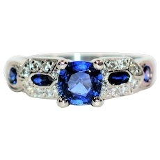 Timeless Tacori 1.28tcw Ceylon Sapphire & Diamond Platinum Engagement Ring