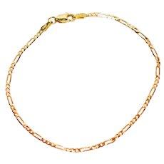 Fine Figaro Link 14kt Yellow Gold Bracelet