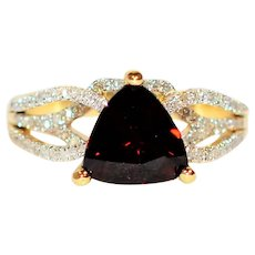 WOW GIA Certified 2.62tcw Untreated Red Spinel & Diamond 14kt Yellow Gold Ring