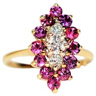 Marvelous One of a Kind 1tcw Ruby & Diamond 14kt Yellow Gold Ring