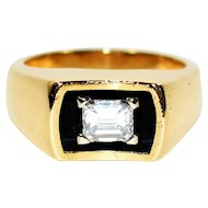 Star Quality .53ct Solitaire Diamond 14kt Yellow Gold Ring