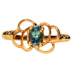 Color Changing Stunner .60ct Alexandrite 10kt Yellow Gold Solitaire Ring