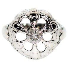 Sensational Art Deco .50ct Diamond 14kt White Gold Ring