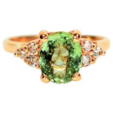 Glowing 2.15tcw Paraiba Tourmaline & Diamond 14kt Yellow Gold Ring
