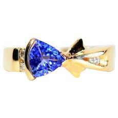 Bold Dynamite 1.09tcw D'Block & Diamond 14kt Yellow Gold Ring