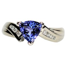 Dazzling Beauty 1.69tcw D'Block Tanzanite & Diamond 14kt Yellow Gold Ring
