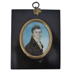 Miniature Portrait Painting circa 1800