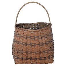 Early Cherokee Handled Basket