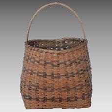 Early Cherokee Handled Basket