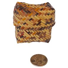 Cherokee Miniature Double Weave Basket