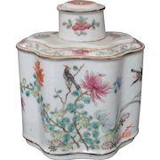 Chinese Porcelain Famille Rose Tea Caddy