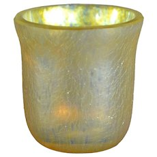 LCT Tiffany Gold Favrile Glass Shot Glass