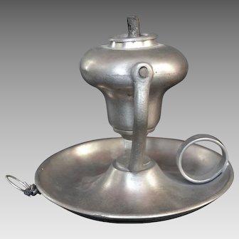 Pewter Gimbal Whale Oil Lamp - Endicott & Sumner