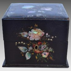 Victorian Painted Lacquer Scent Bottle Box