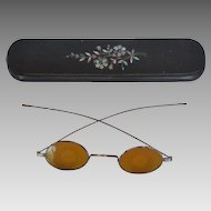 Victorian Eyeglass Case w/ Shooting Glasses