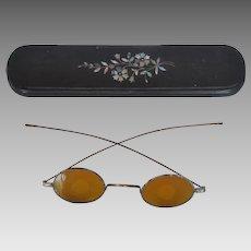Victorian Eyeglass Case w/ Shooting Glasses