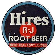 Vintage Hires Root Beer Tin Sign