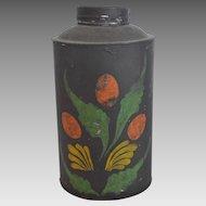 Early American Tole Tea Caddy