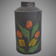 Early American Tole Tea Caddy