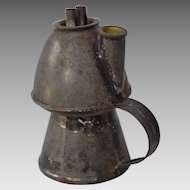 19th Century American Tin Whale Oil Lamp