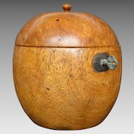 Exceptional English Apple Shaped Tea Caddy
