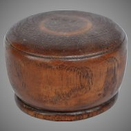 Antique English Treen Travel Goblet