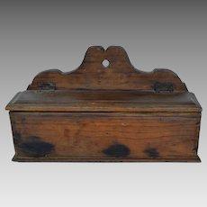 Early American Pine Wall Box