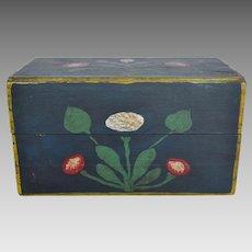 Wood Box - Original Paint - Wonderful Folk Art