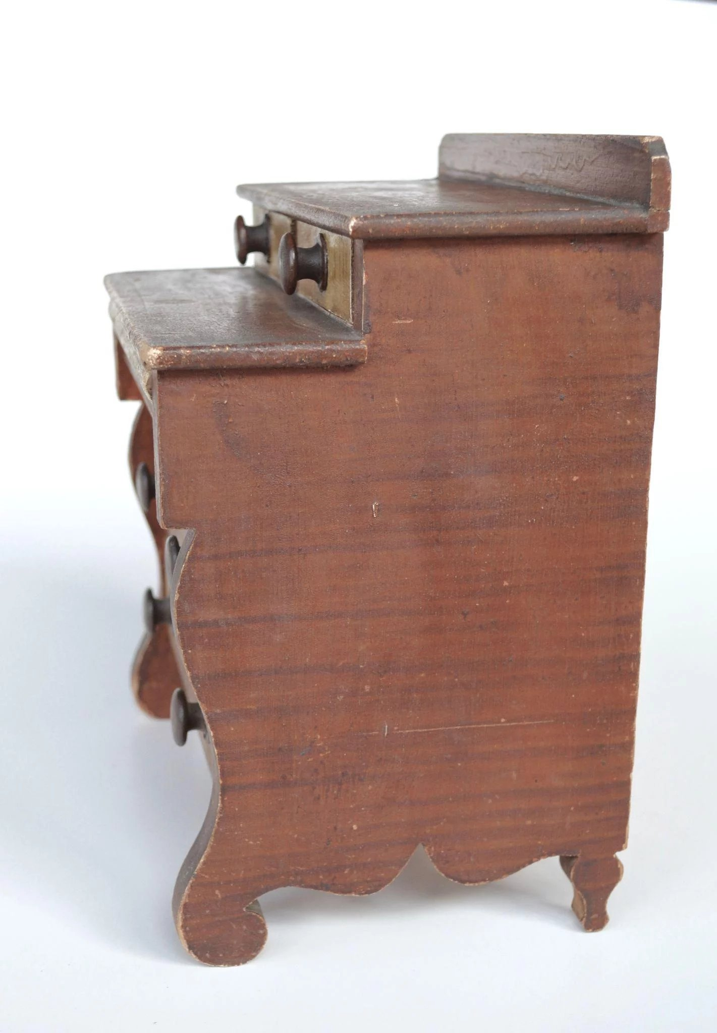 Early 19th Century Miniature American Painted Chest Of