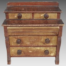 Early 19th Century Miniature American Painted Chest of Drawers