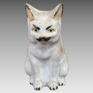 Antique Pennsylvania Chalkware Cat Bank