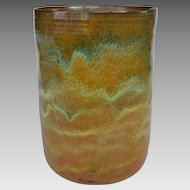 Massive Beatrice Wood Vase with Multicolor Glaze