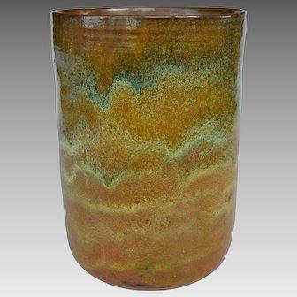 Massive Beatrice Wood Vase with Multicolor Glaze