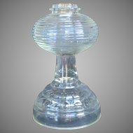American Pressed Glass Oil Lamp