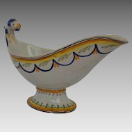 19th Century French Faience Sauceboat
