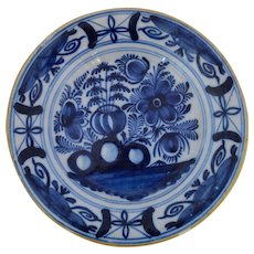 Early Dutch Delft Blue and White Plate