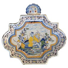 Dutch Delft Polychrome Plaque circa 1740