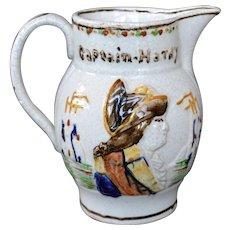 English Prattware Jug of Nelson and Hardy
