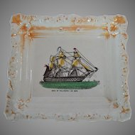 Antique English Sunderland Lustre Historical Plaque