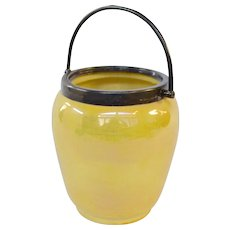 Moorcroft Pottery Yellow Luster Biscuit Jar