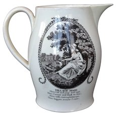 Liverpool Creamware Jug with circa 1800