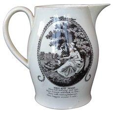 Liverpool Creamware Jug with circa 1800