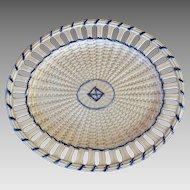 Creamware Basketweave Platter circa late 18th C.