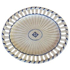Creamware Basketweave Platter circa late 18th C.